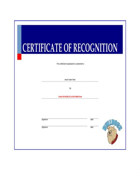 Free Template For Certificate Of Recognition by 20 Certificate Of Recognition Templates Free Sle