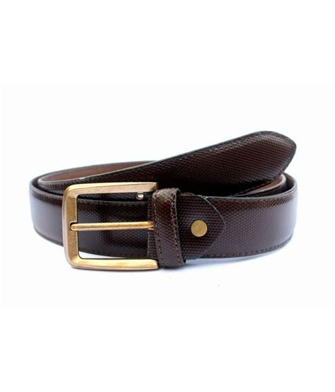 tops brown leather formal belts buy at low price