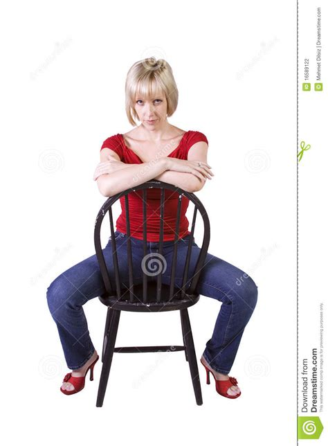 Model Sitting On Chair by Stylish Fashion Model Sitting On Chair Stock Photography Image 16589122