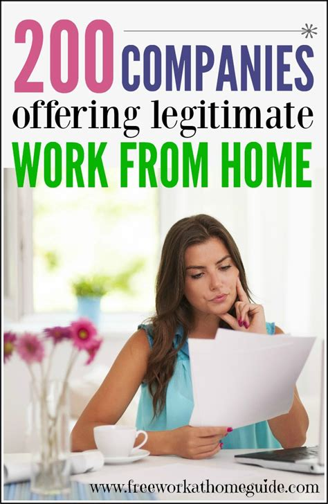 List Of Online Jobs To Work From Home - 200 companies offering legitimate work at home jobs