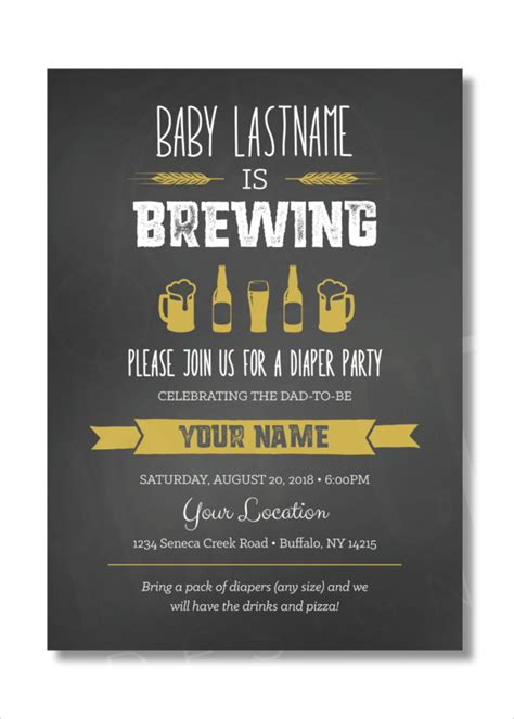 13 sle diaper invitations psd vector eps