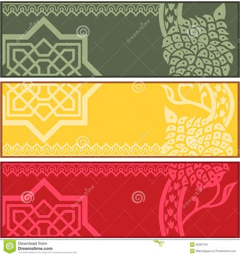 design banner islamic banners with islamic ornaments stock photos image 32587723