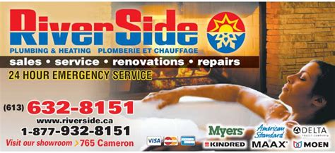 Plumbing Service Riverside by Riverside Plumbing Heating Hawkesbury On 765