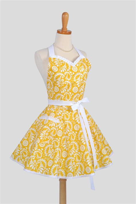 apron pattern cute flirty sunny yellow damask apron awesome make it