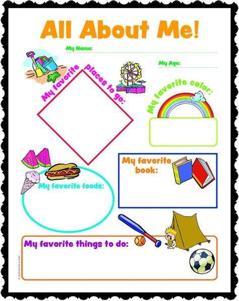 printable crafts all about me printables kids and adults will love