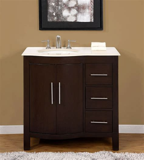 bathroom vanity cabinets with tops 36 quot 0912cm marble top single bathroom vanity