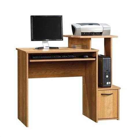 sauder beginnings highland oak finish computer desk ebay