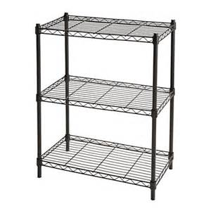 wire book shelves realspace wire shelving 3 shelves 30 h x 23 w x 13 d black