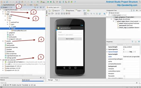 template android studio project android studio project structure stacktips