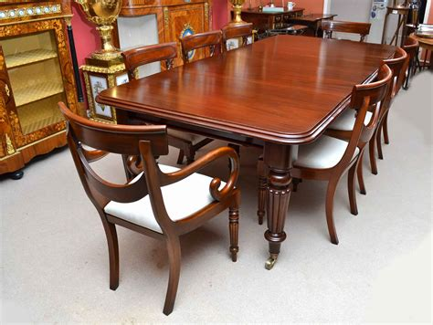 8 Chair Dining Table Antique 8 Ft Mahogany Dining Table 8 Chairs Ref No 04108b