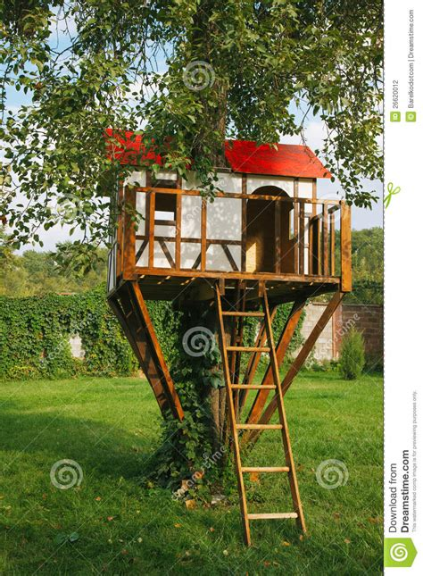 small house for kids cute small tree house for kids stock photography image 26620012