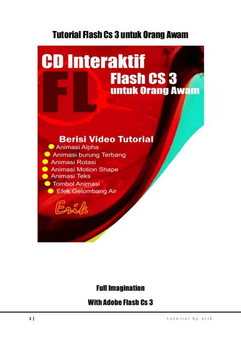 tutorial dasar adobe photoshop pdf e book tutorial dasar adobe flash cs 3