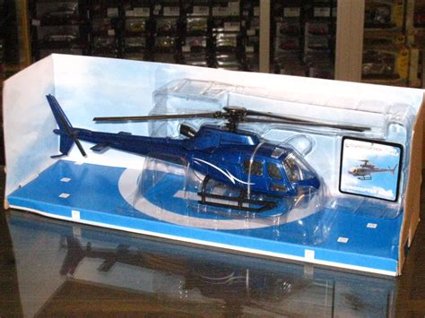 Diecast Metal Helicopter 595 A 34 newray sky pilot 1 43 eurocopter as350 b2 blue diecast model helicopter 24cm