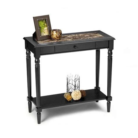 Marble Entry Table Convenience Concepts Country Black Foyer Table With Faux Marble Top On Sale
