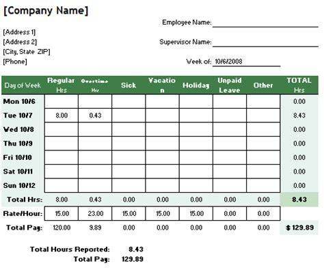 Employee Work Hours Template