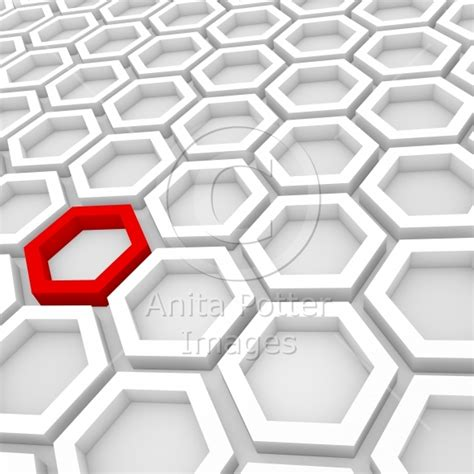 How To Make A 3d Hexagon Out Of Paper - 3d render of an abstract hexagonal background