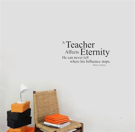 A teacher affects eternity wall decals vinyl stickers home decor living room decorative sticker
