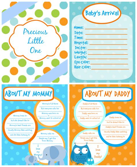 printable baby book template pages printable baby book pages free download