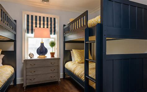 room bunk beds navy bunk beds transitional boy s room space saavy design