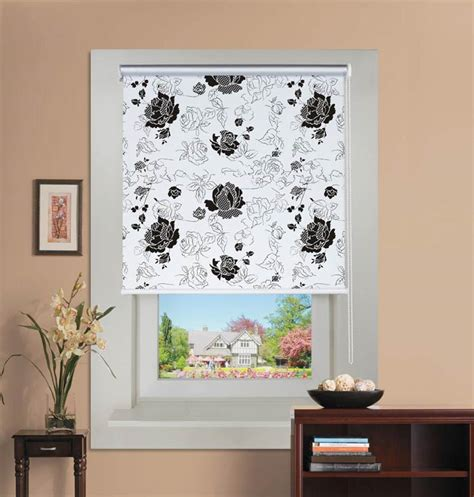 fabric pattern roller shades white and black roller blinds pretty white and black