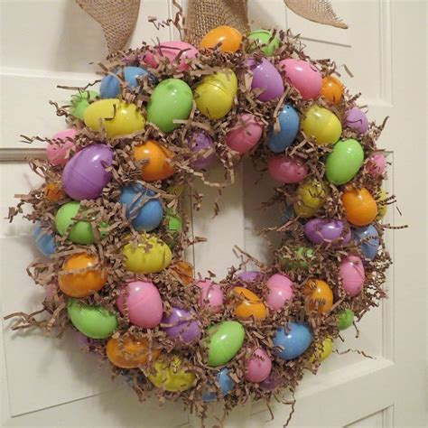 spring wreaths to make make an easter egg wreath
