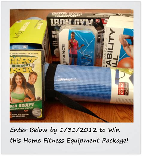 home fitness equipment sweepstakes enter now no