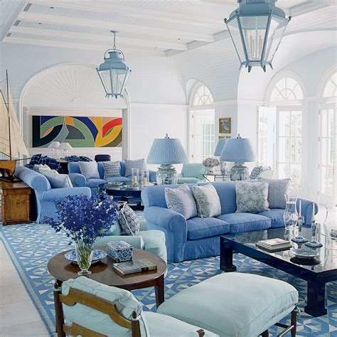 White And Blue Coastal Living Room Design Ideas by Blue Living Room Decor Colorful Cozy Spaces Coastal