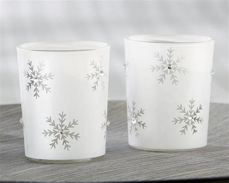 snowflake tea light holders sparkling snowflake glass tea light holder set of 4 my