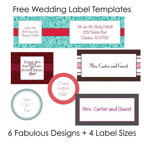 labels for wedding favors free templates wedding favor tags template free topweddingservice