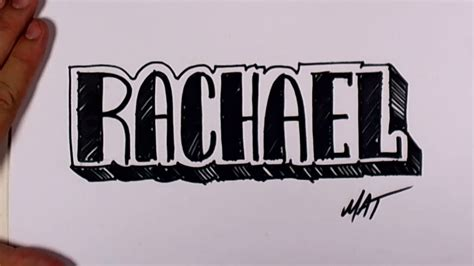 graffiti writing rachael name design 40 in 50 names