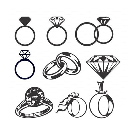 eps format wedding clip art wedding diamond rings svg dxf ai eps png vectors bridal