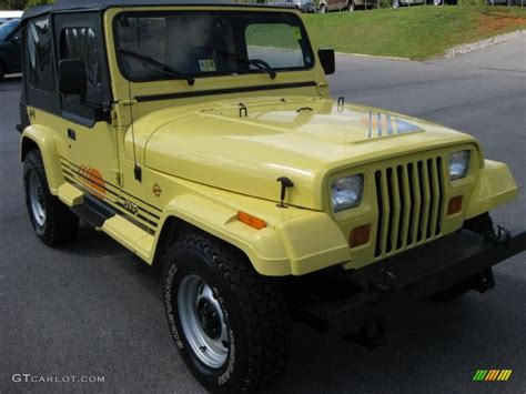 1991 jeep islander 1990 jeep wrangler islander 4x4 malibu yellow color gray