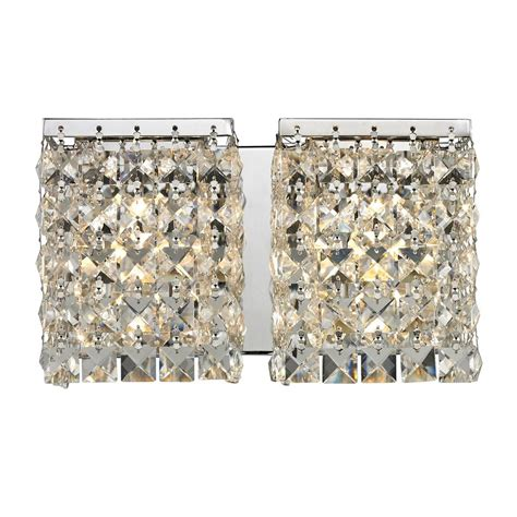 crystal bathroom light shop z lite 2 light galati chrome crystal bathroom vanity