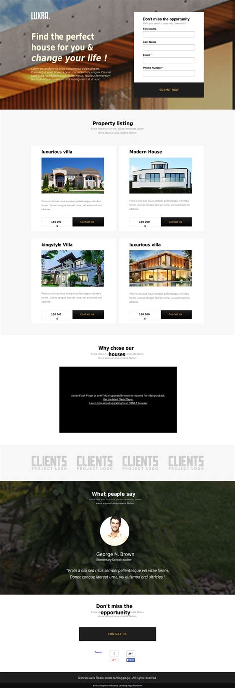 5 Real Estate Landing Page Templates For Your Appraisal Real Estate Landing Page Templates