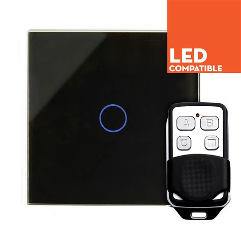 Led Touch Black retrotouch black touch led dimmer with remote 1 way plain