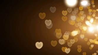 bokeh lights golden hearts bokeh lights overlay motion background