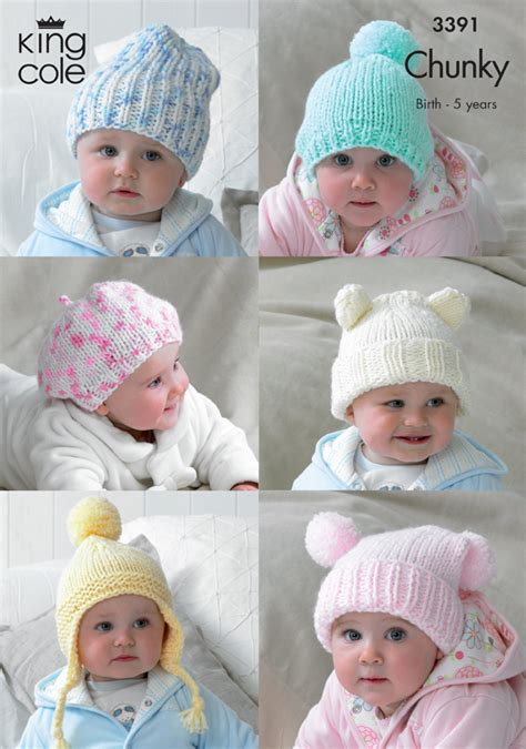 how to knit a newborn baby hat for beginners king cole chunky knitting pattern baby hats slouchy beanie