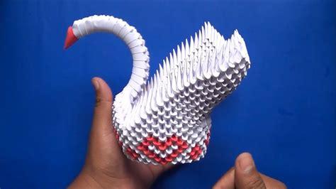 tutorial para hacer origami en 3d origami 3d cisne de corazones youtube