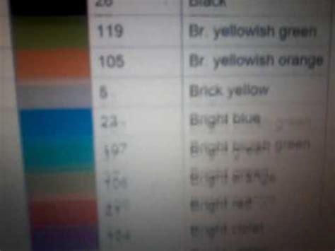 roblox color codes roblox color codes
