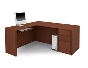 Desk With Tall Hutch Bestar Prestige L Shaped Desk