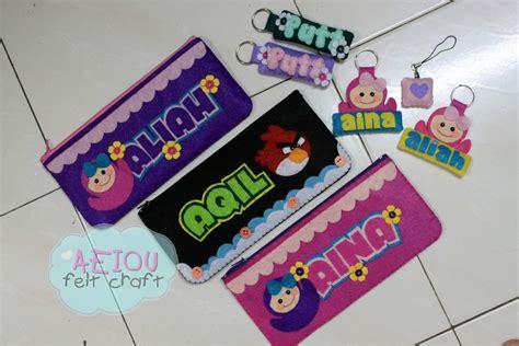 I Plastic Pencil Pink Kotak Pensil aeiou felt craft