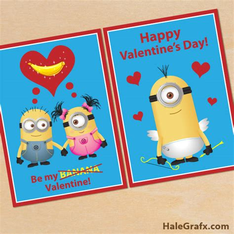 minion valentines day card free printable despicable me minion valentines