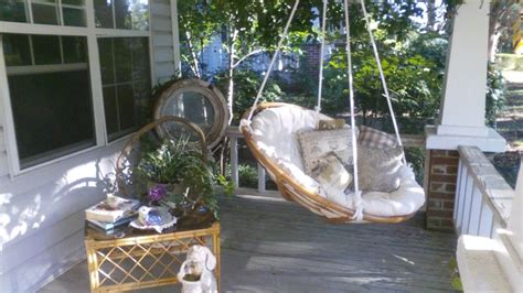 swing porch chair porch swing made from papasan chair my doin s