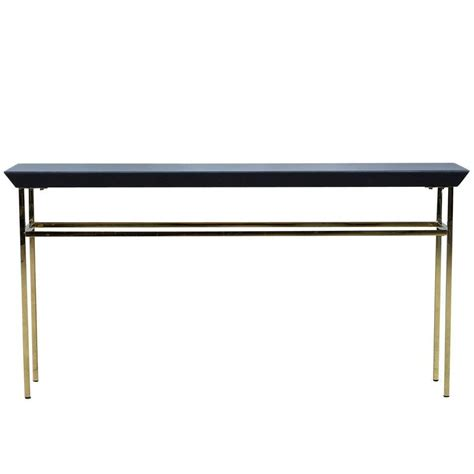 black metal console table black glass and gold metal console table at 1stdibs