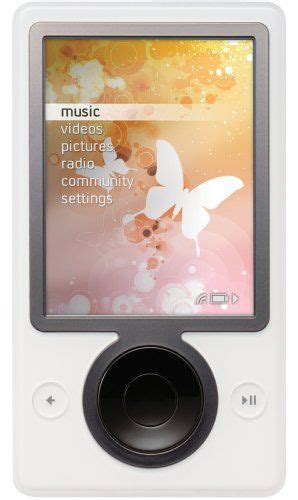 A More Pleasing Pink Zune by Zune 30 Gb Digital Media Player White Favorite Places