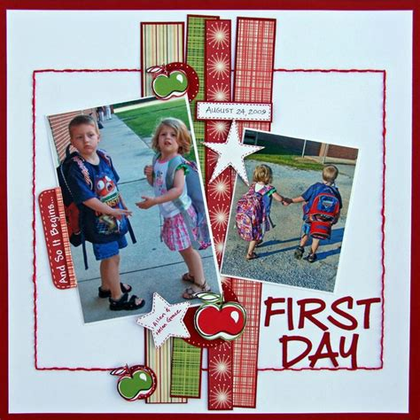 scrapbook layout first day of school first day scrapbook com scrapbook page layout scrapbook