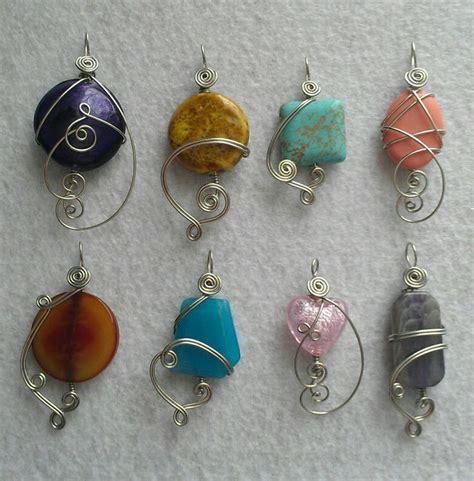 diy wire jewelry wire wrapped pendants diy jewelry