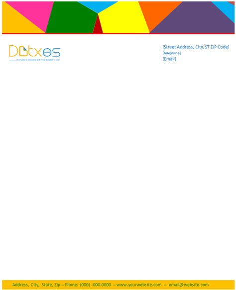 business letterhead template multi color design dotxes