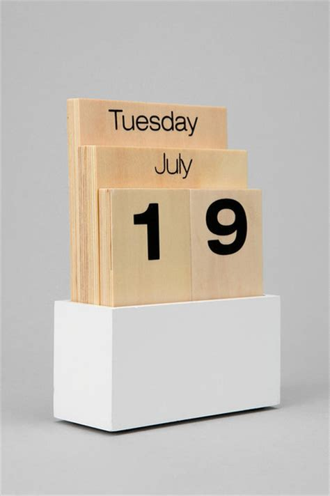 Modern Desk Calendar Wood Shuffle Desktop Calendar Modern Desk Accessories By Outfitters