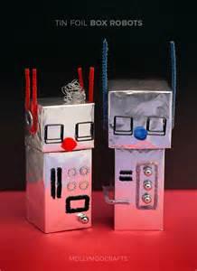 aluminum foil robot craft for kids dine decorate design